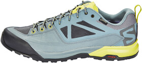 Salomon X Ultra 3 GTX® Ideal for fast hiking over moderate to technical terrain in wet weather conditions. Castor GrayDarkest SpruceAcid Lime